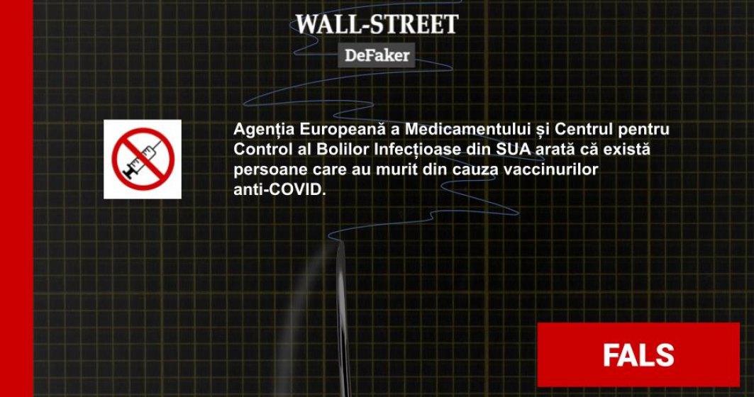 #DeFaker | Au existat persoane care să fi murit din cauza vaccinului anti-COVID?