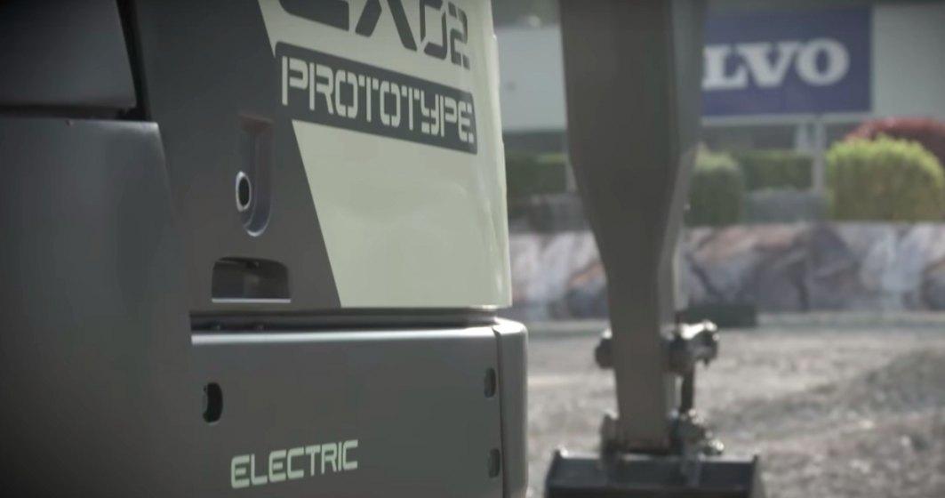 VIDEO: Volvo dezvaluie primul excavator electric