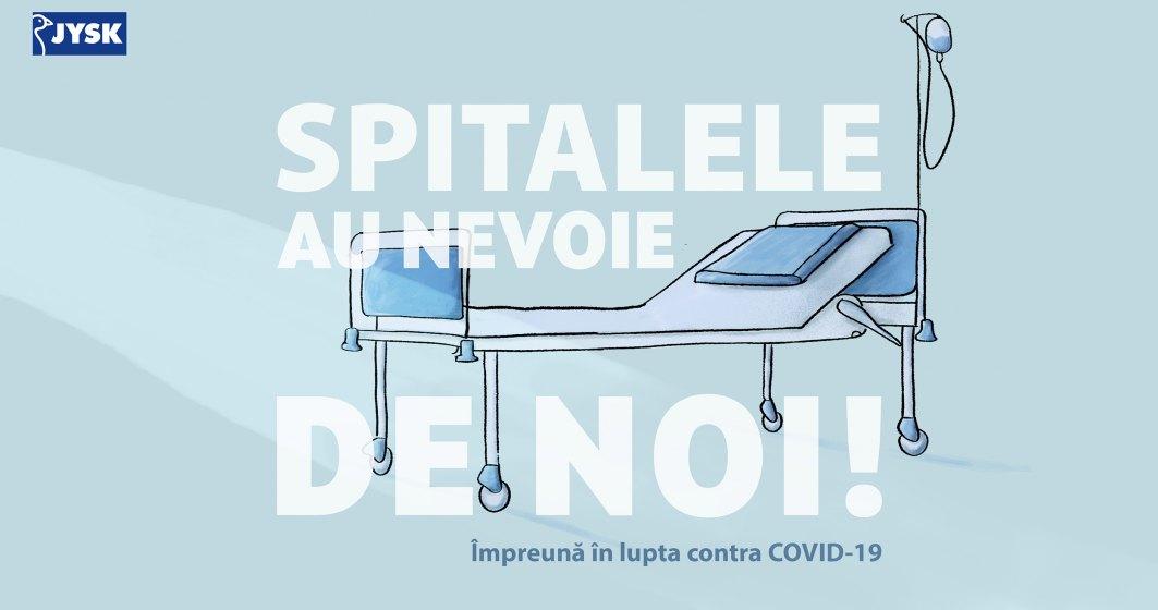 JYSK creează un fond de urgenta de 150.000 de lei pentru spitalele care îngrijesc bolnavii de COVI-19 și care au nevoie de plăpumi, perne sau lenjerii de pat