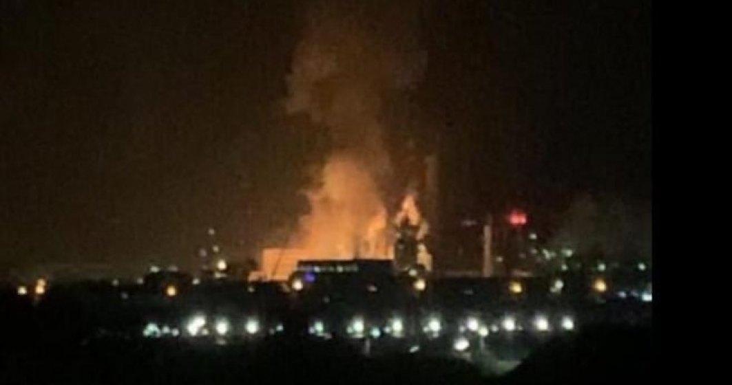 Ce spune Ministerul Mediului despre calitatea aerului după explozia de la Azomureș