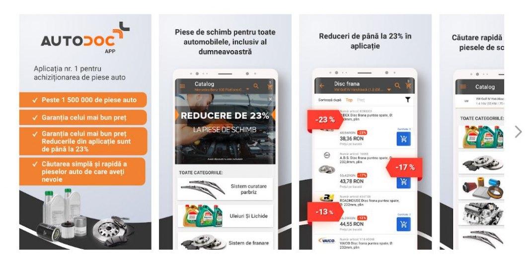 (P) S-a lansat aplicatia Autodoc App - aplicatia nr.1 pentru achizitionarea de piese auto!