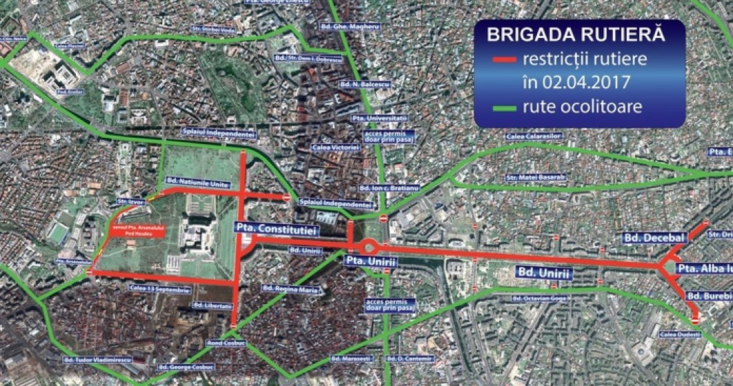 "Restrictii de circulatie in Capitala pentru crosul ""Bucharest 10K & Family Run"""
