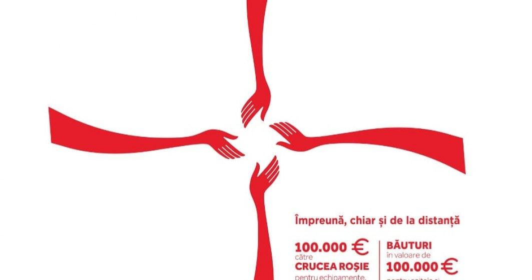 Coca-Cola Romania donează 200.000 de euro pentru echipamente medicale, precum și băuturi pentru spitale și centre de carantină