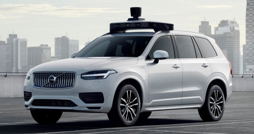 Volvo prezinta o versiune autonoma pentru XC90: SUV-ul a fost echipat cu sisteme autonome dezvoltate de Uber
