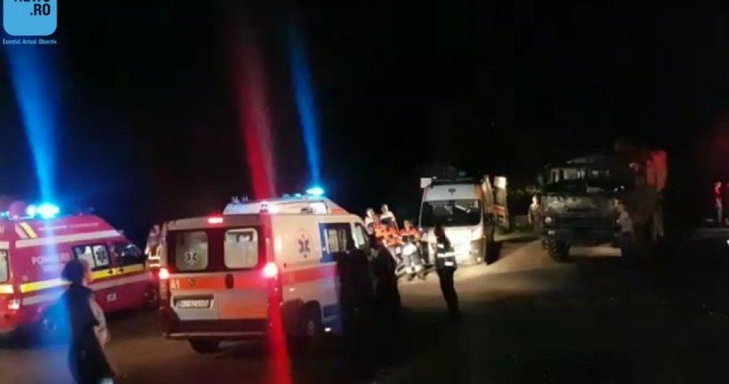 Tragedie in Arges: un camion cu militari s-a rasturnat. Cel putin un mort si mai multi raniti