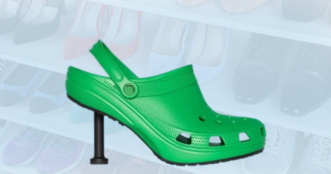 Balenciaga lansează o pereche de papuci Crocs mai scumpă decât salariul mediu în România