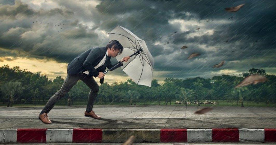 ANM avertizează: cod portocaliu de ploi în 11 județe