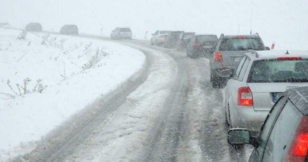 Se circula in conditii de iarna pe DN1 si DN1A