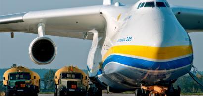 FOTO  Acesta este AN-225, avionul gigant care aterizează azi pe Aeroportul...