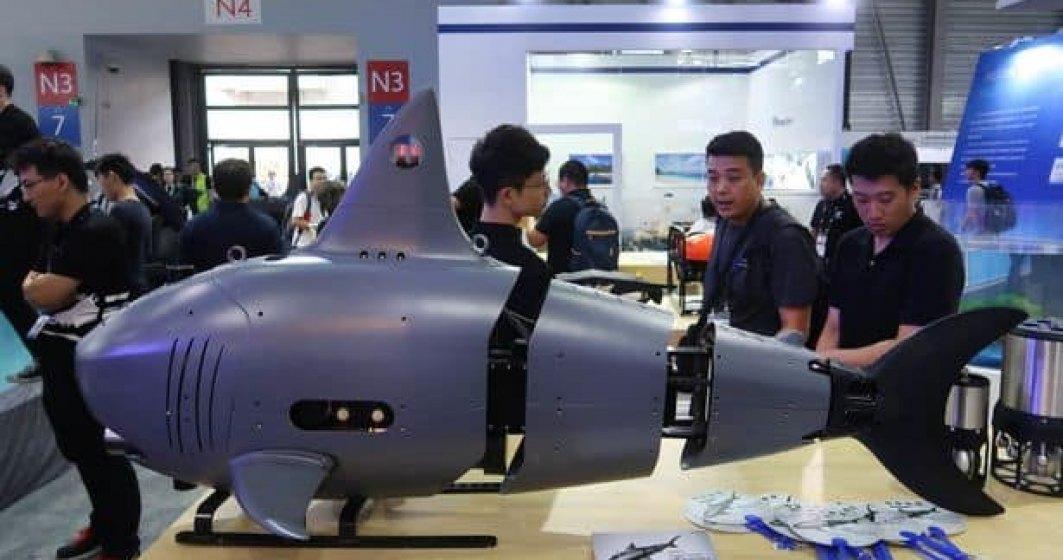 """China """"lovește"""" din nou. Țara a construit o dronă rechin care să spioneze navele inamice"""