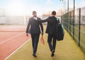 """Cum să-ți găsești """"jumătatea"""" la tenis, badminton sau squash. Ideea de..."""