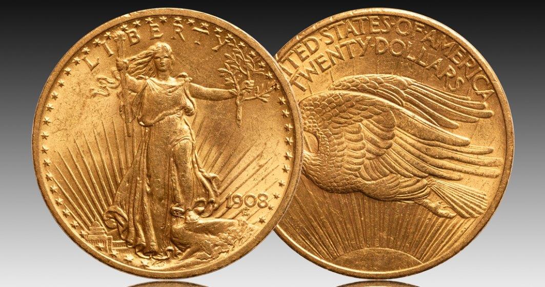 Licitația record: 18,9 milioane de dolari pentru o monedă americană de aur
