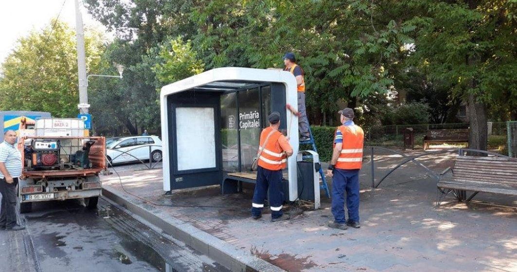 """""""Weekendul curățeniei"""" în București. 300 de angajați STB curăță autobuzele și stațiile"""