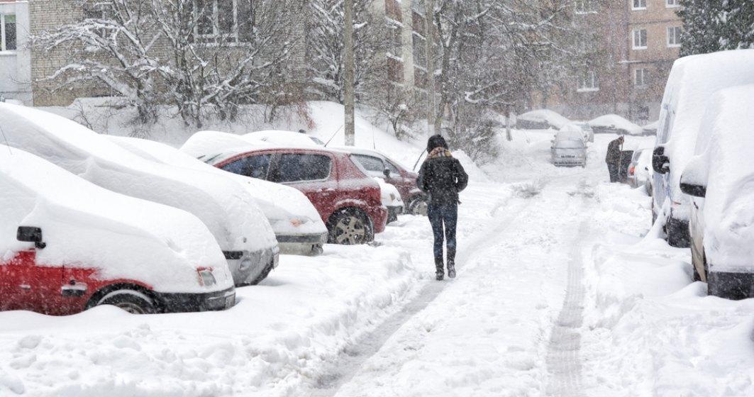 Avertizare meteo: ninsori și vânt puternic. Se va depune un strat de zăpadă de 8-10 centimetri