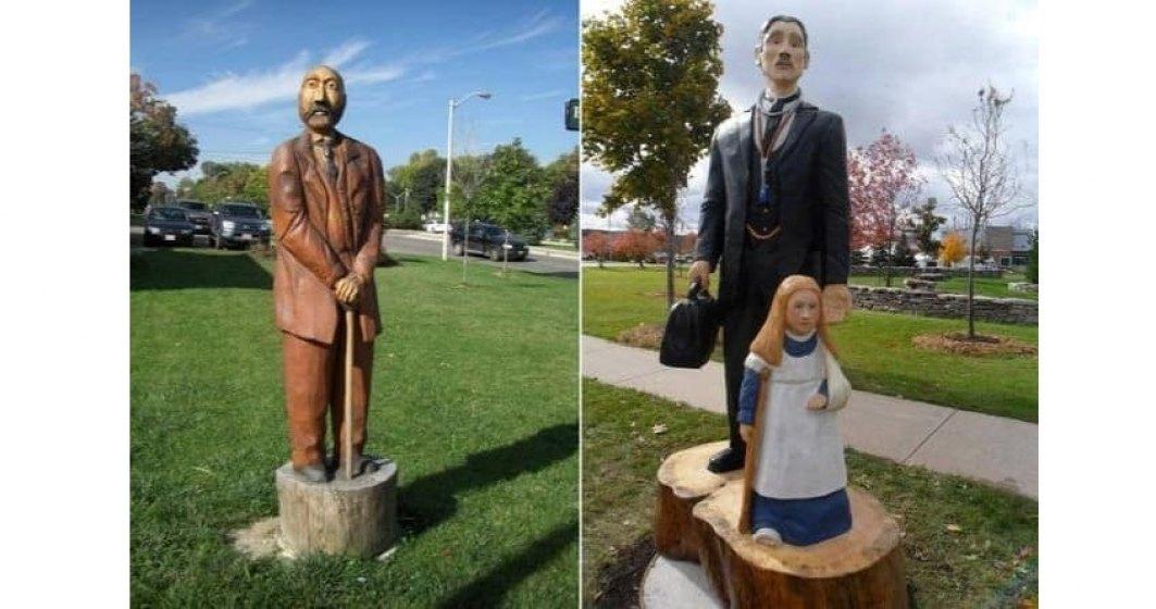 Inedit: În Timișoara, copacii uscați sunt transformați în sculpturi
