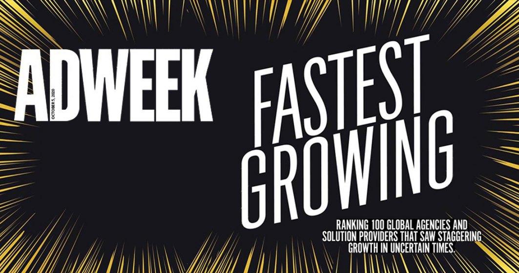 United Media Services este inclusă în Top 100 Global: Fastest Growing Companies al Adweek. Agenția de media este singura din România care a fost aleasă în prestigiosul top