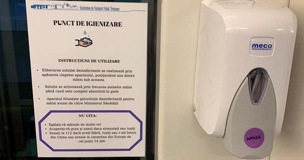 Dozatoare cu dezinfectant introduse în toate mijloacele de transport in comun din Timișoara