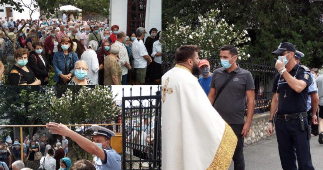 VIDEO Sute de oamenii s-au înghesuit la o biserică pentru a primi pachete