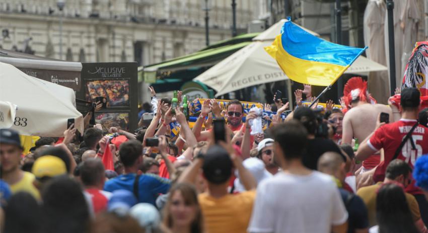 Suporteri Ucraina - Centrul Vechi, București