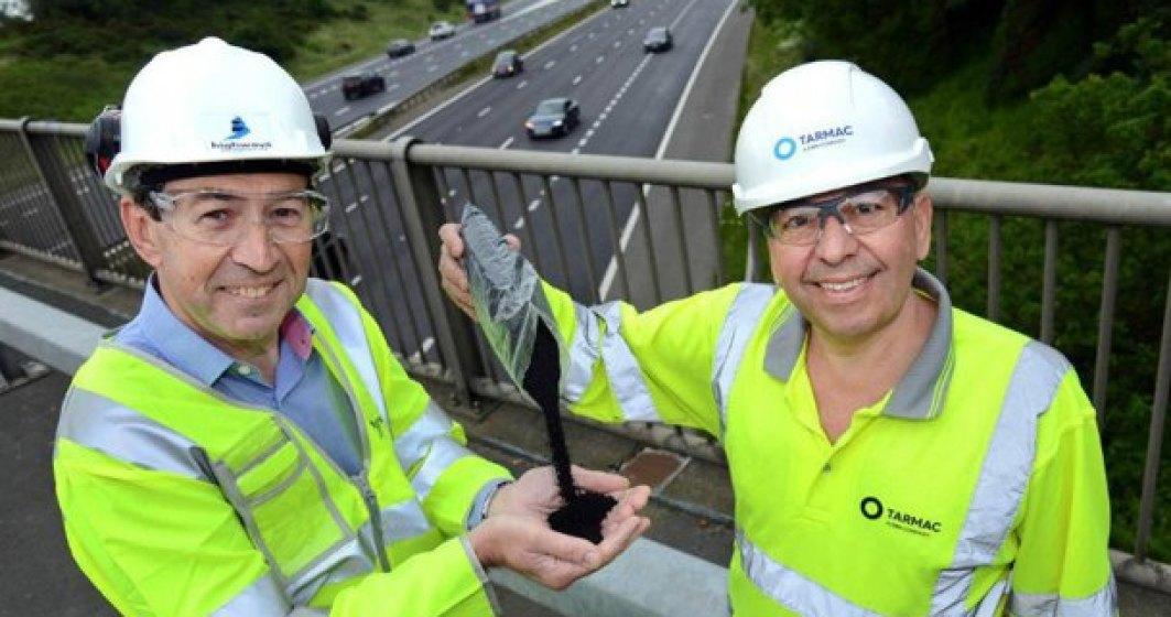 Englezii testeaza autostrada din cauciuc realizata in urma prelucrarii anvelopelor uzate