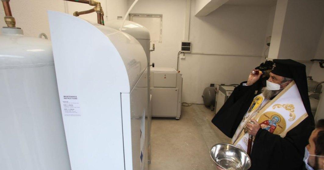 Arhiepiscopia a donat o staţie de oxigen pentru Spitalul de Pneumoftiziologie din Sibiu, unde sunt pacienţi cu COVID-19