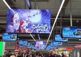 Reclame contextuale si date in timp real pentru peste 700 de ecrane Carrefour