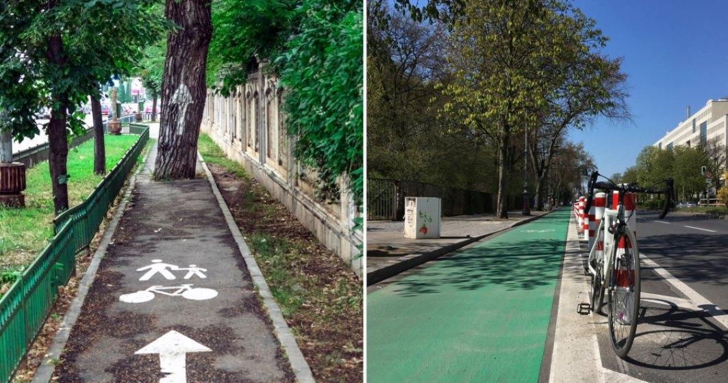 Bucuresti, exemplu NEGATIV privind pistele de bicicleta, in TheGuardian