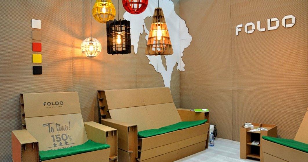 Foldo, afacerea romaneasca cu mobilier si decoratiuni din carton de 200.000 de euro care se vand in Japonia si Statele Unite