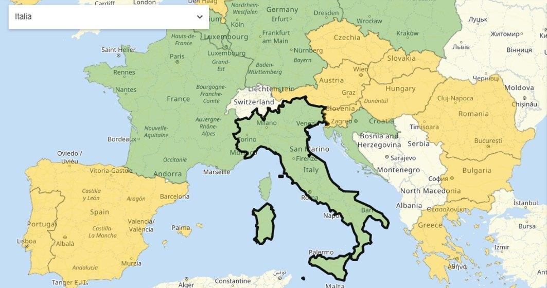 Planuiesti o vacanță in Europa dupa Covid-19? Acest site iti spune unde poti (sau nu poti) merge