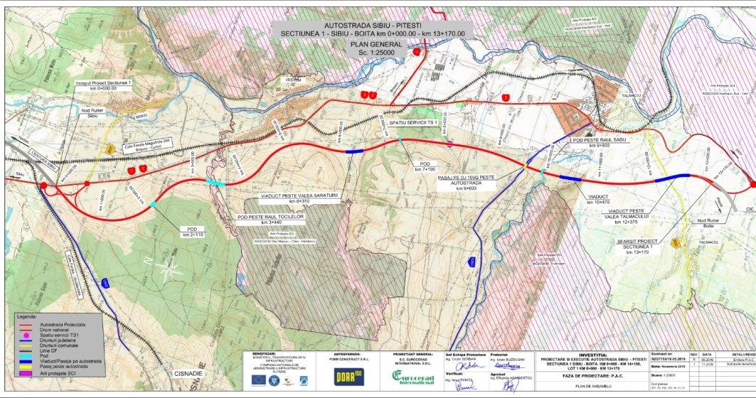 Autostrada Sibiu-Pitești: încep lucrările la lotul 1 din secțiunea Sibiu-Boița în plină pandemie de Coronavirus