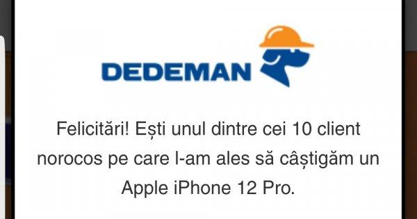 """""""Tombola DEDEMAN"""", un mesaj fals trimis de hackeri ce păcălește românii și îi..."""