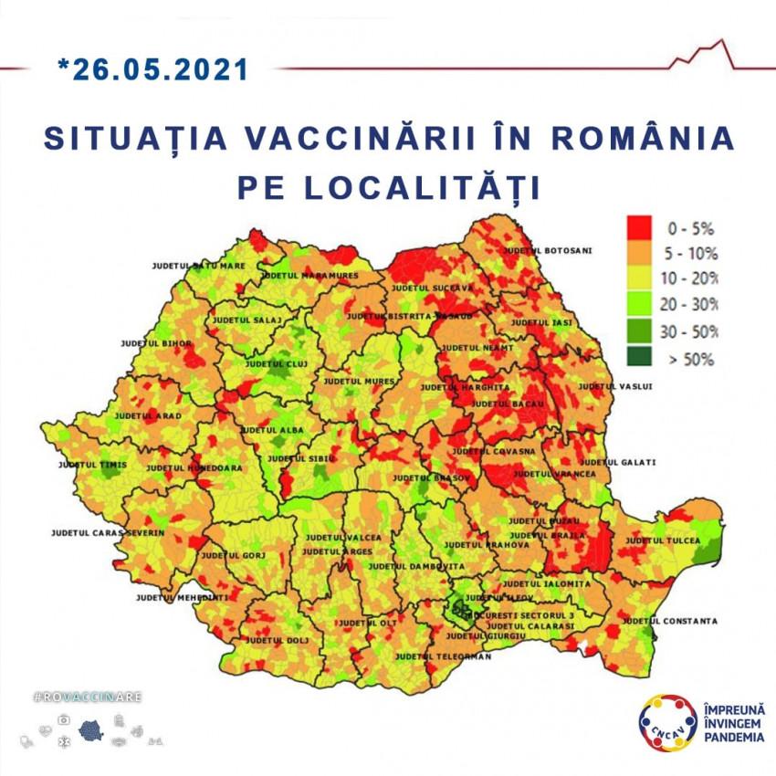 vaccinare pe localitati Romania