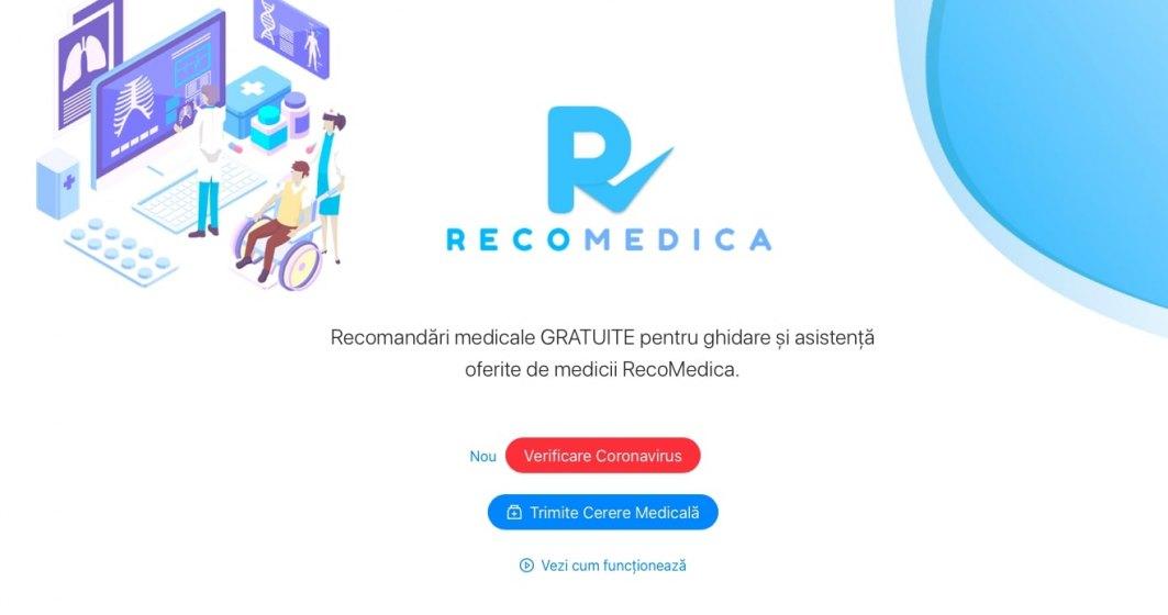 RecoMedica asigură triaj și evaluare medicală online gratuită, pentru a preveni răspândirea virusului Covid-19 în România