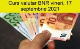 Curs valutar BNR vineri, 17...