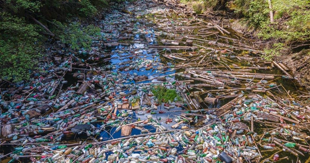 Unul dintre cele mai frumoase lacuri din Apuseni, acoperit de gunoaie: zeci de voluntari au făcut curat