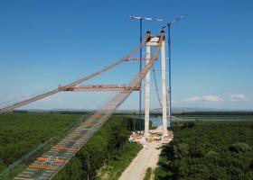 VIDEO  Drulă: Lucrările la Podul din Brăila sunt la jumătate