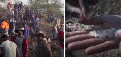 VIDEO | Un sat african invadat de mii de vânători de diamante!