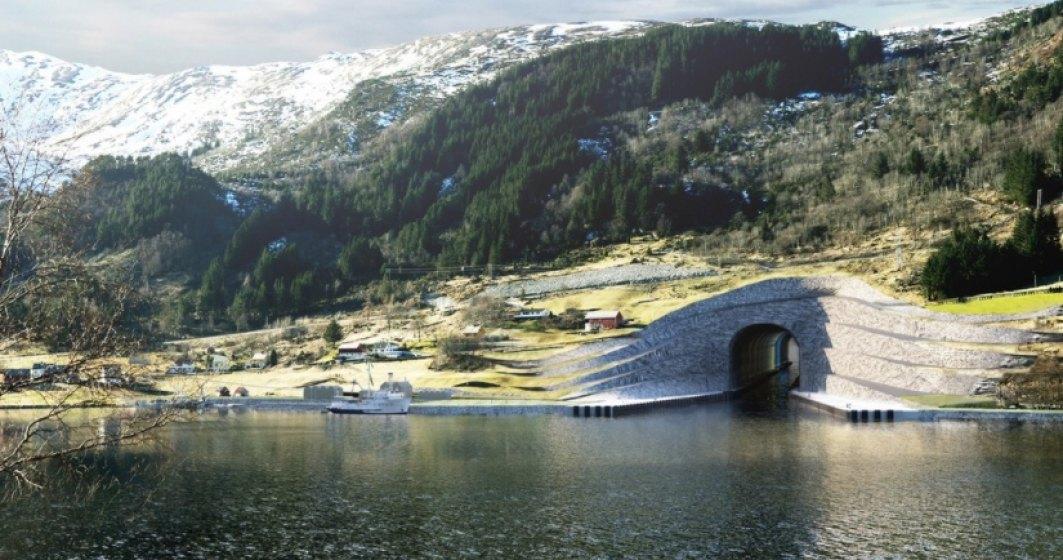 Norvegia construieste primul tunel din lume pentru ambarcatiuni