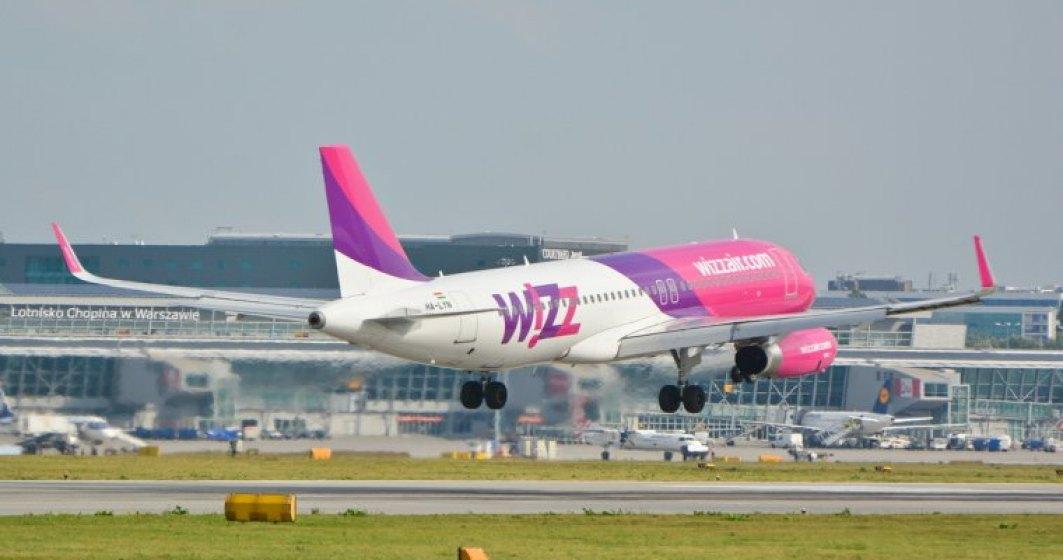 Wizz Air a transportat in Romania 4 milioane de pasageri in primele 9 luni, consolidandu-si statutul de lider al pietei