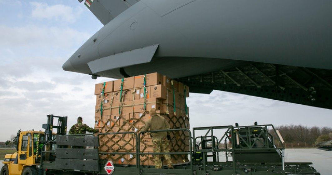 Ministerului Apărării Naţionale: Al doilea transport cu 45 de tone de echipament medical din Coreea de Sud a ajuns pe aeroportul Otopeni