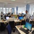 Noul sediu Flanco: Fotografii ale angajatilor, pe sigla gigant a companiei - Foto 6