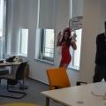 Noul sediu Flanco: Fotografii ale angajatilor, pe sigla gigant a companiei - Foto 9
