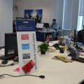 Noul sediu Flanco: Fotografii ale angajatilor, pe sigla gigant a companiei - Foto 10