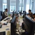 Noul sediu Flanco: Fotografii ale angajatilor, pe sigla gigant a companiei - Foto 12