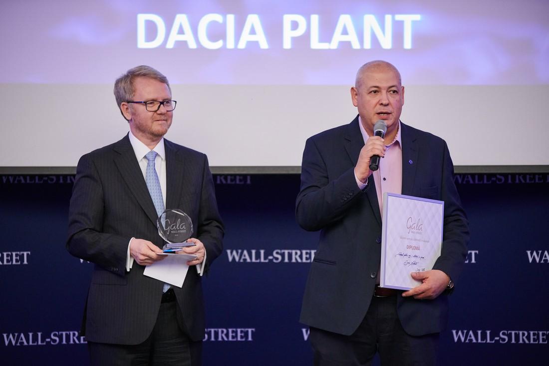 """Dacia Plant - premiul pentru """"Curaj si initiativa in afaceri"""""""