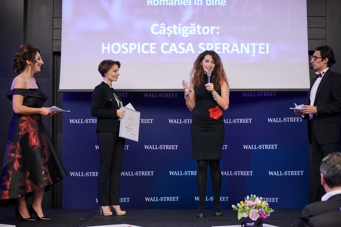 """Hospice Casa Sperantei - premiul pentru """"Schimbarea Romaniei in bine"""""""