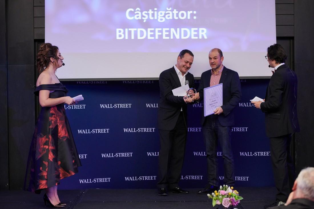 """Bitdefender - premiul pentru """"Cea mai valoroasa companie"""""""